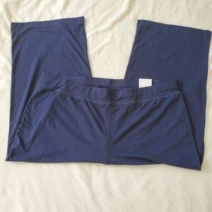 Chico's Lightweight Stretch Blue Crop Pants NWT XL